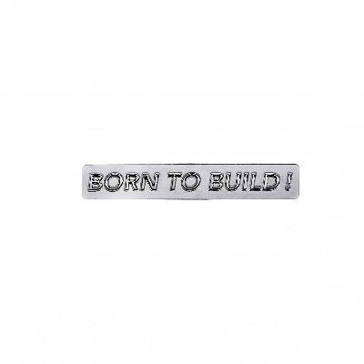 Architecture Born to Build Metal Pin Badge