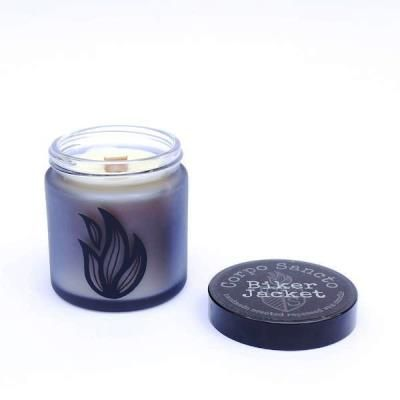 Biker Jacket - Rapeseed Wax & Wood Wick Screw Top Candle