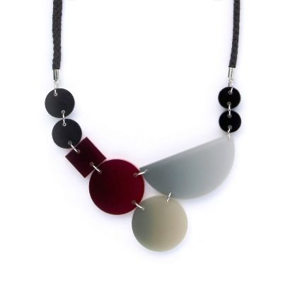 Blend Necklace Black Red
