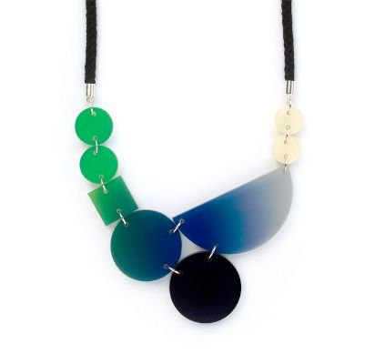 Blend - Necklace - green-navy