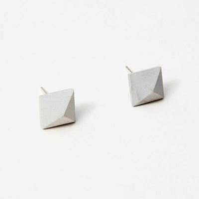 Block Concrete Pyramid Earrings