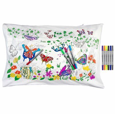 Colour & Learn: Butterfly Pillowcase