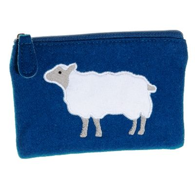 Felt Sheep Purse - Navy