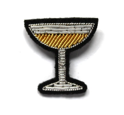 Glass of Champagne Brooch