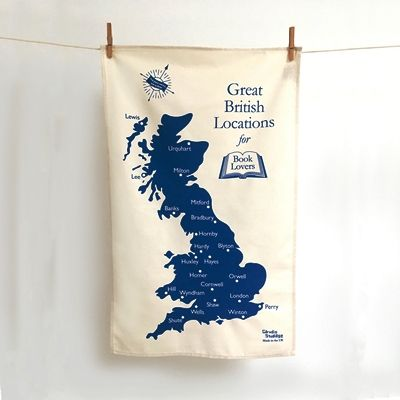 Great British Locations for Book Lovers' Tea Towel
