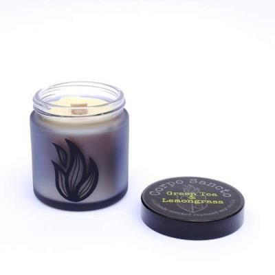 Green Tea & Lemongrass -  Rapeseed Wax & Wood Wick Screw Top Candle
