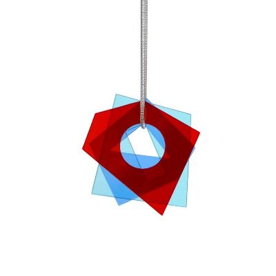 Layer Pendant - Red - Blue (S)