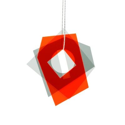 Layer Pendant  Red - Grey (L)