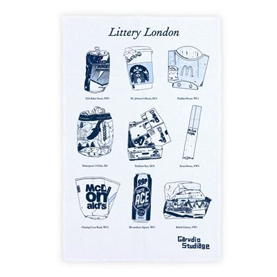Littery London Tea Towel