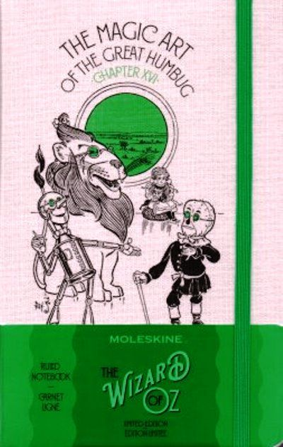 Moleskine Limited Edition Wizard Of Oz Large Ruled Notebook: Magic Art Green