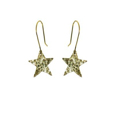 Plated Star Earrings