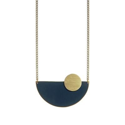 Semi Circle Pendant (Various Colours)
