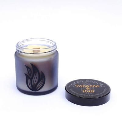 Tobacco & Oud -  Rapeseed Wax & Wood Wick Screw Top Candle